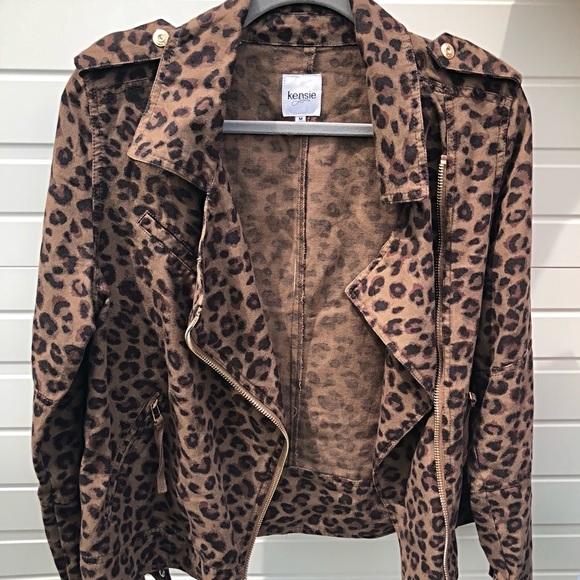 2096fa444334 Kensie Jackets & Coats | Jeans Leopard Moto Jacket Size M | Poshmark